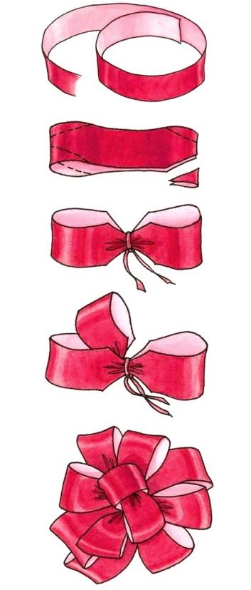 Как сделать красивые бантики на подарок