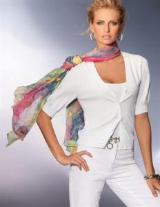 Как носить шарфики