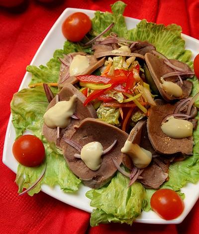 язык говяжий салаты рецепты с фото