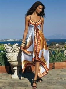 Как сшить платье из платков