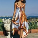 Как сшить платье из платков: два варианта из двух платков