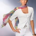 Как носить шарфики разным цветотипам девушек