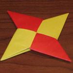 Оригами: как сделать из бумаги сюрикен