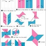 Секретное оружие ниндзя: как сделать сюрикен из бумаги