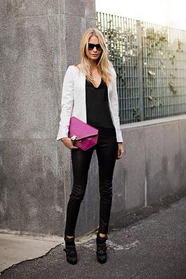Белый пиджак – это та часть женской