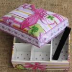 Как сделать шкатулку из коробки для хранения бижутерии