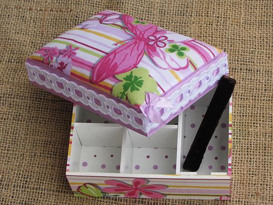 Украшаем коробки для хранения своими руками 62