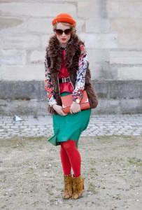 рыжие ботинки с чем носить
