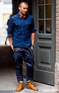 мужские ботинки рыжие
