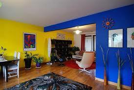Сочетание синего и желтого цвета