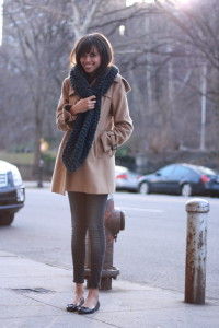 шарф на пальто фото