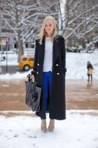 С чем носить черное пальто фото