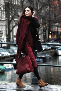 Как красиво завязать шарф на пальто фото