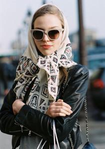 Как одевать платок на голову правильно