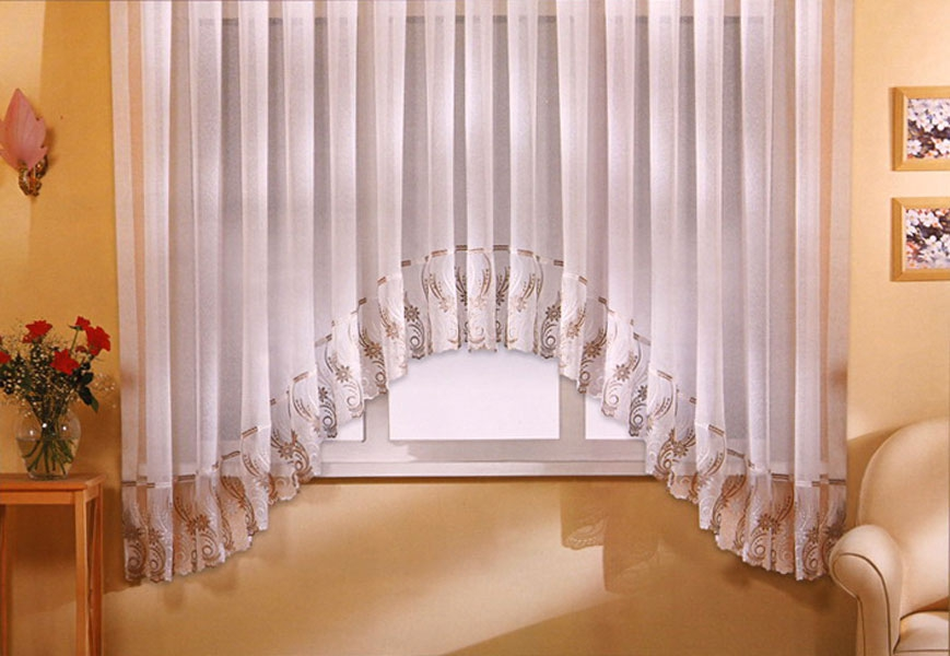 Выкройка штора арка на кухню 69