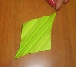 цветная оригами снежинка