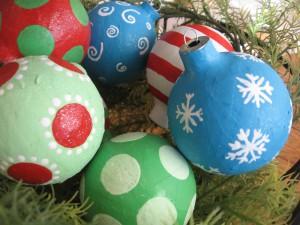 новогодние игрушки из папье маше своими руками