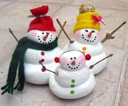 Поделки снеговика своими руками из теста