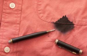 Как отстирать чернила с одежды