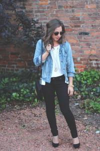 с чем носить джинсовый пиджак
