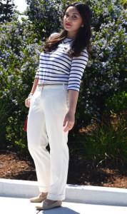 брюки белого цвета фото