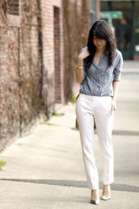 с чем носить белые штаны