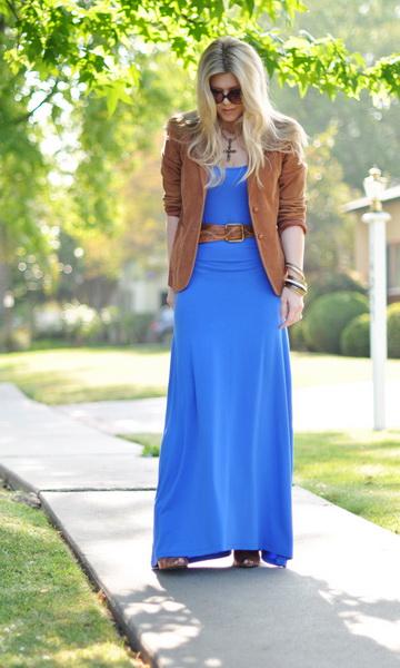 Платье длинное с чем носить