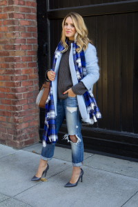 светло синее пальто фото