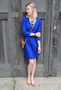 a2f2d2b9331 С чем носить синее платье  тенденции