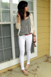 С чем носить белые брюки фото