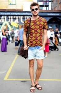 джинсовые шорты для мужчин фото