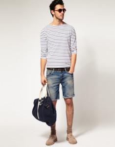 мужские джинсовые шорты фото