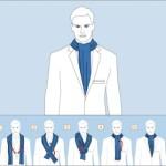 Как завязывать мужской шейный платок